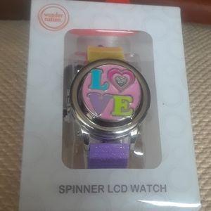Spinner LCD Watch. Tweens